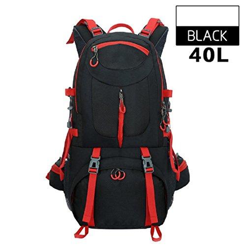 Un nuovo giorno uomini e donne borsa all'aperto alpinismo escursionismo campeggio pacchetto capacità zaino grande capacità 40L 52 * 30 * 18 cm , purple Black