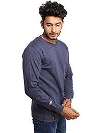 BuyBack® Selfdesgin Mens Winter Imported Long Sleeves Slim Warm Sweatshirt(Size-M)(Dark Grey)