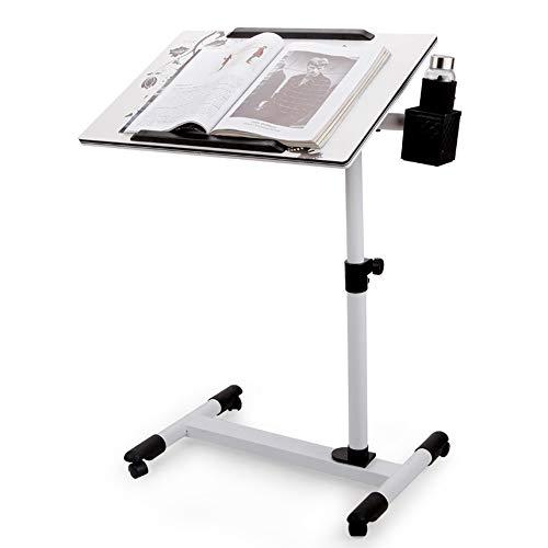 ZHEDAN Portable Laptop Cart Tray Tischständer Laptop-Tisch Ergonomische Bettablage, Höhenverstellbar, Solide Und Überlegene Stabilität, Für Zuhause Und Büro (Ergonomische Computer-cart)