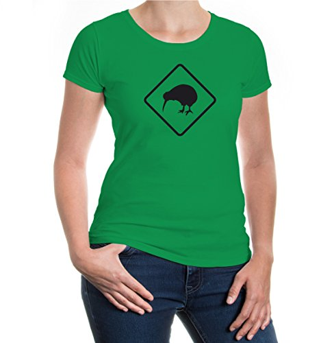 buXsbaum® Girlie T-Shirt Schnepfenstrauss Kellygreen-Black