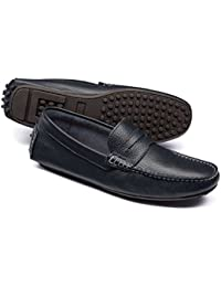 Navy Saddle Driving Loafer by Charles Tyrwhitt