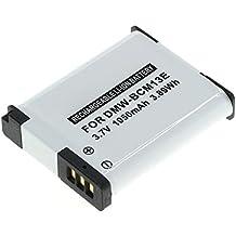 subtel® Batteria premium per Panasonic Lumix DMC-TZ71 -TZ70, DMC-TZ61 -TZ60, DMC-TZ58 -TZ56 -TZ55, DMC-TZ41 -TZ40, DMC-TZ37, DMC-FT5, DMC-ZS60, DMC-ZS50, DMC-ZS45 -ZS40, DMC-ZS35 -ZS30 -ZS100, DMC-LZ40, DMC-TS6 -TS5 (1050mAh) PABCM13-1,DMW-BCM13 Batterie di ricambio, accu sostituzione, sostituto