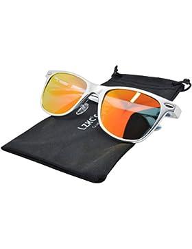 LZXC Gafas de sol polarizadas unisex AL-MG Frame Spring Bisagra para hombre Mujer