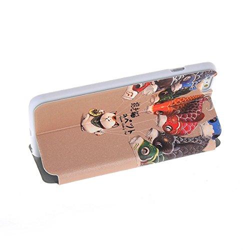 MOONCASE Coque en Cuir Housse de Protection Étui à rabat Case pour Apple iPhone 6 Plus A18170