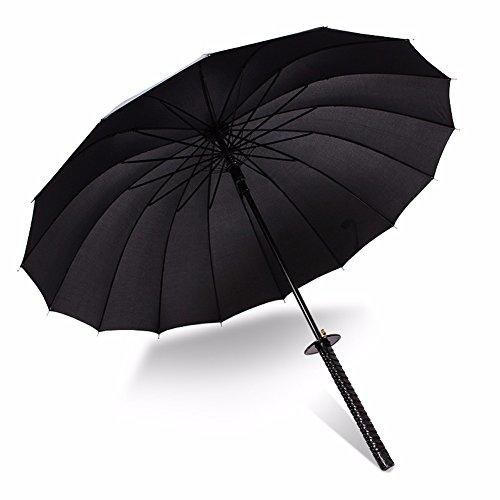 BBSLT Uomini ombrelloni lungo ombrello Ombrello creative Super Broadsword ombrello Ombrello spada Sun Giappone Samurai ombrello,16 coltello ossea