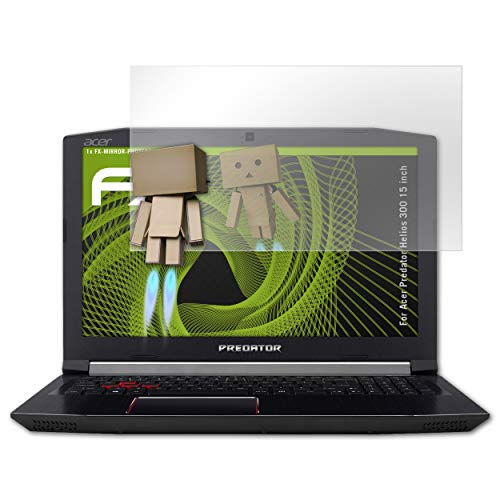 atFolix Bildschirmfolie für Acer Predator Helios 300 15 inch Spiegelfolie, Spiegeleffekt FX Schutzfolie