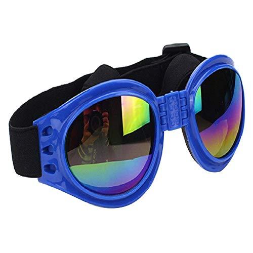 YaptheS Mode-Art-Haustier-Sonnenbrille Windproof Hundeschutzbrille UVgläser Beweis für Large Pet täglichen Bedarf Geschenk für Haustiere Blau Supplies