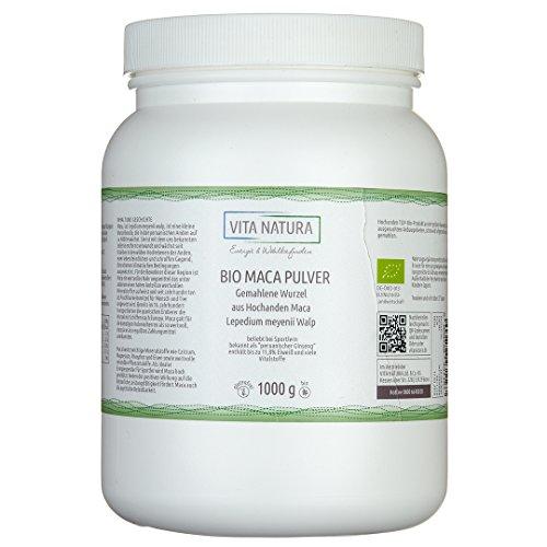 Vita Natura Bio Maca Pulver, Hochanden-Top-Produkt aus Peru 1000g