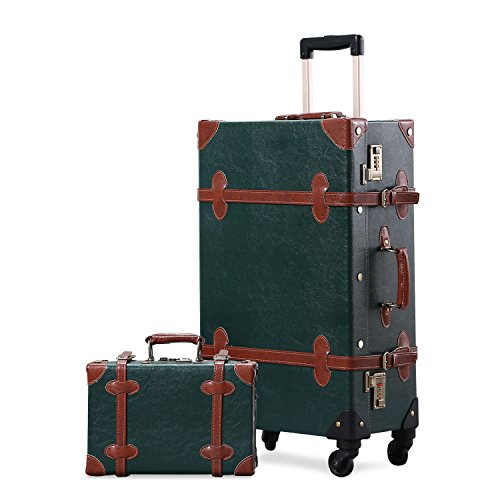 UNITRAVEL Koffer-Set Vintage Hartschalen 2-teilig Elfenbein