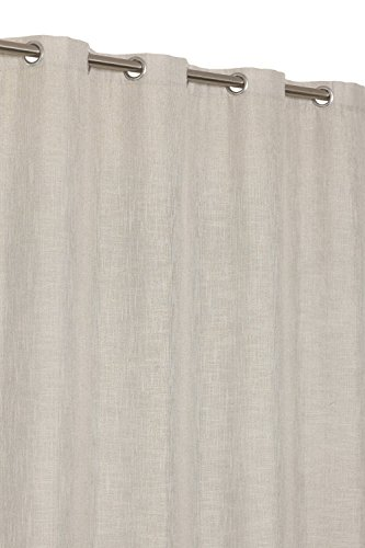 Rideau à Oeillets 140 x 240 cm Aspect Lin Lourd Taupe