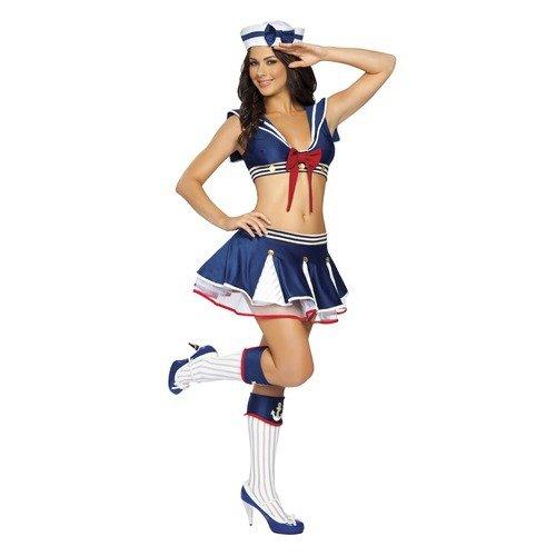 DLucc Weibliche Halloween- Kostüm-Parteikleid Cosplay Kostüme Diskothek navy Uniformjacke Spieluniformen , #1