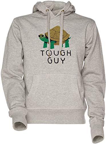 Vendax Tough Guy Unisex Herren Damen Kapuzenpullover Sweatshirt Grau Men's Women's Hoodie Grey