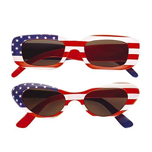 Widmann 6659U Brille, rot/weiß/blau, Amerika