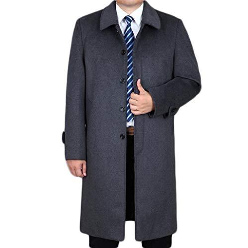 QKDSA Wollmantel Herren Herbst und Winter Mantel Business Jacke Dicke warme Windjacke (Farbe : Gray, größe : M) (Herren Mäntel Erbse)