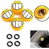 4 Pcs Smile Face Expression Car Tire Tyre Dust Stem Air Valve Caps Amazon Rs. 800.00