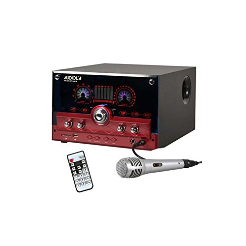 Majestic-Audiola-AHB-2290K-21-Systme-audio-USB-SD-AUX-MIC-micro-rouge