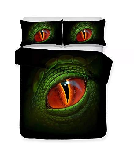 CHICKZ 3D Forest Park Dinosaurier Druck Bettwäsche Set Tagesdecke Bettbezug Set Boy Teens Kind Bettwäsche Bettwäsche Set Kissenbezug 3 Stück Heimtextilien (#17,US Twin/172 * 218cm) (Boys Bettwäsche-set Twin)