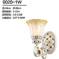 All'Americana GaoHX Lampada da parete comodino specchio Lampada lamp Lampada da parete in ferro illuminazione Corridoio di stile europeo luci corridoio,M-1