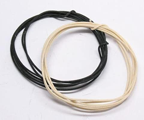 Electric Fender guitar and bass cloth wire set 1 meter white and 1 meter black new