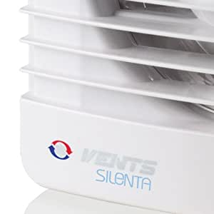Silent Extractor Fan Low Noise, Low Energy - Bathroom, Wet Room, Toilet, Shower - 100mm, 4 dia by Silenta