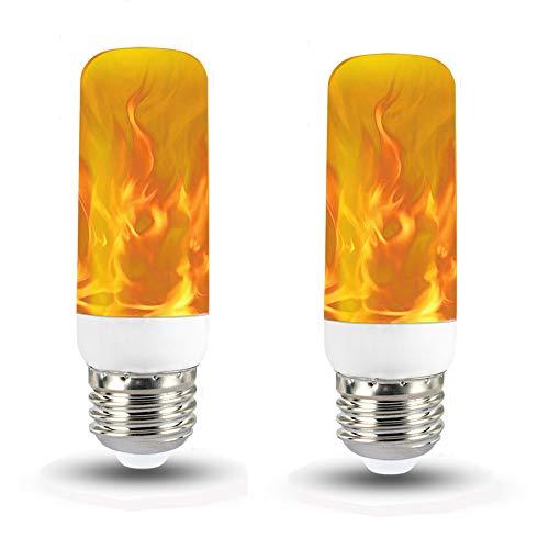 Offene Flamme Gas-licht (Flamme Lampe Flackernde Licht Glühbirne Vintage Atmosphäre warm weiß Leuchtmittel Kreative Lichter Dekorative Leuchte für Hause Garten Bar Party Hochzeit Weihnachten Dekoration)