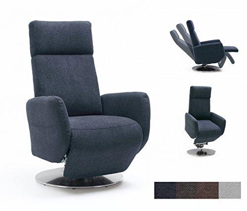 Cavadore TV-Sessel Cobra mit 2 E-Motoren und Aufstehhilfe / Elektrisch verstellbarer Fernsehsessel...