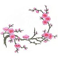 LEORX ricamo fiori Applique Patch Ferro Su