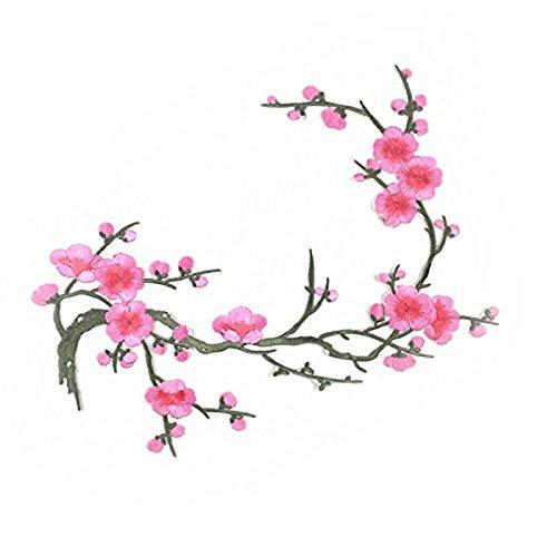 Tinksky Plum Blossom Blume Appli...