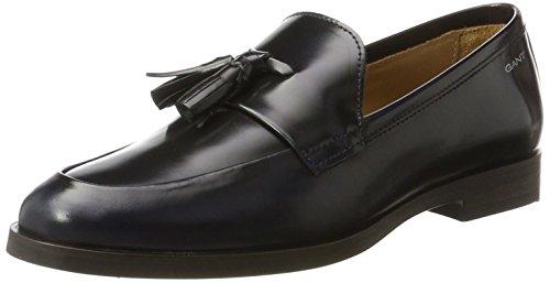 GANT Footwear Damen Nicole Slipper, Blau (Marine), 37 EU (Marine-blau-leder-loafer)