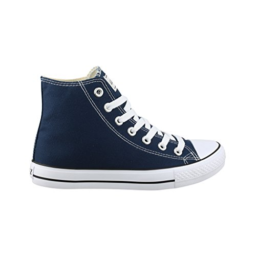 Elara Unisex Kult Sneaker | Comodo Sport Scarpe Per Uomo e Donna | High Top Tessile Scarpe Blau