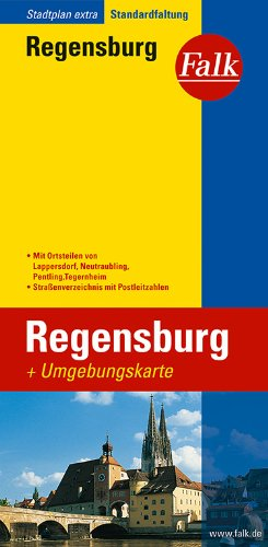 Falk Stadtplan Extra Standardfaltung Regensburg