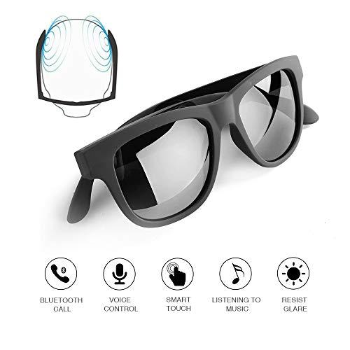 Knochenleitung Bluetooth-Brille Drahtlose Bluetooth-Kopfhörer Sonnenbrille sweatproof wasserdicht Sport-Headset für iOS Android schwarz
