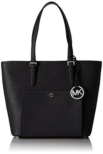 michael-kors-damen-jet-set-item-medium-top-zip-snap-pocket-tote-schwarz-black-13x23x26-cm