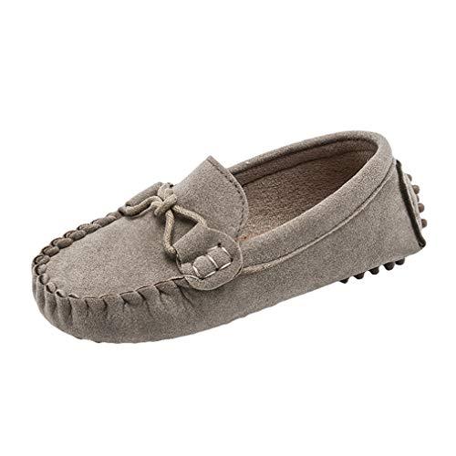 Niños Niñas Zapatos Casuales Mocasines Antideslizantes Moda Zapatos Suaves Gamuza Comodidad Unisex...