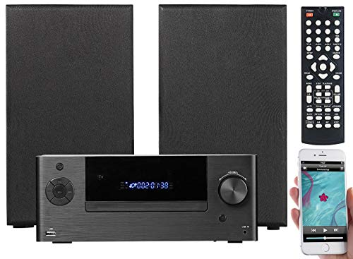 auvisio HiFi Anlage: Mini-HiFi-System mit DVD-/CD-/Media-Player, Bluetooth & FM, 120 Watt (DVD Spieler)
