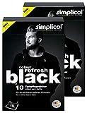 simplicol colour refresh Farbpflegetücher, Schwarz, Zur Auffrischung ausgeblichener Kleidung für sichtbar tieferes 20 Stück, Schwarz