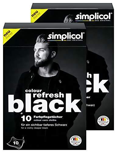 simplicol Colour Refresh Black Farbpflegetücher 20 Stück: Tücher zum Auffrischen ausgeblichener Kleidung gegen Vergrauen - sichtbar tiefes Schwarz für Ihre Wäsche, rückstandsfrei in der Maschine -