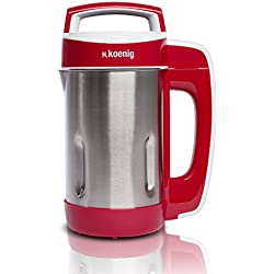 H.Koenig MXC18 Blender Chauffant et Programme de Cuisson Polyvalent Soupe,Compote, Smoothies aux Fruits 1.1L, 850 W, 1.1 liters