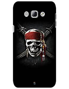 myPhoneMate Pirates of The Caribbean Skull Designer Printed Hard Matte Mobile Case Back Cover for Samsung Galaxy A8