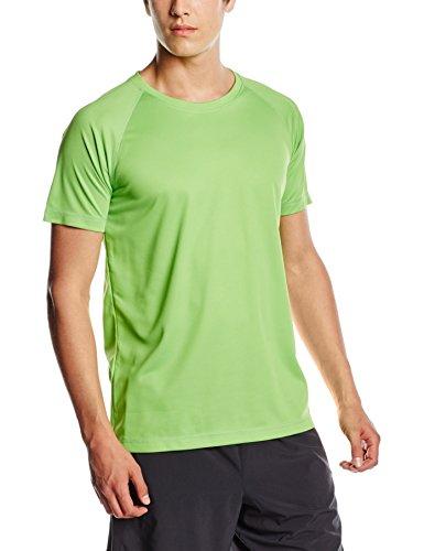 Stedman Apparel Herren T-Shirt Active 140 Raglan/st8410 Green (Kiwi Green)