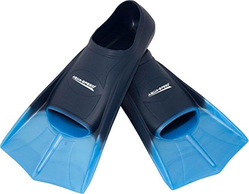 Aqua Speed® HIGH TECH Kurze Trainingsflossen | Schwimmflossen | Schwimmtraining | Kurzflossen | Taucherflossen | Größen 33-48, Modell:blau/hellblau/02, Größen:47/48