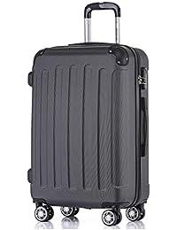 BEIBYE Hartschalen-Koffer Trolley Rollkoffer Reisekoffer Handgepäck 4 Rollen (M-L-XL-Set)