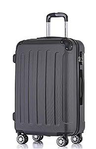 BEIBYE 2045 Hartschale Koffer Kofferset Trolley Reisekoffer Größe XL-L-M in 12 Farben (Schwarz, L)