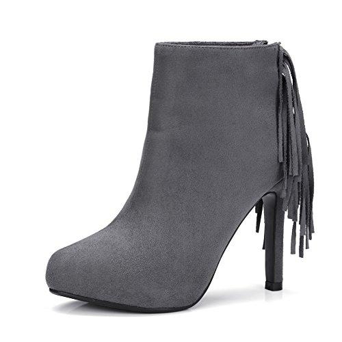 Balamasaabl09553 - Sandales Compensées Grises Pour Femmes