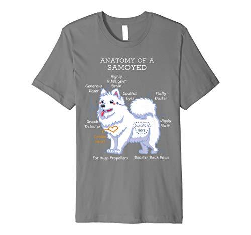 Anatomy Of A Samoyed Funny Dog Body T Shirt Preisvergleich