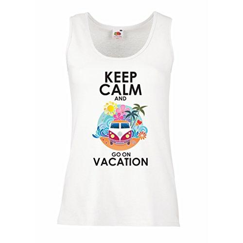 lepni.me Damen Tank-Top Gehen Sie auf Urlaub, Nette Outfits, Strandkleidung, Resortabnutzung (X-Large Weiß Mehrfarben)