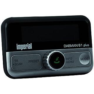 Imperial 22-165-00 DABMAN 61 plus mobiler DAB+ Empfänger (FM Transmitter für Auto/LKW, Bluetooth 4.2 für Smartphones/Tablet, microSD-Kartenleser, diverse Halter; Scheibenklebeantenne) schwarz