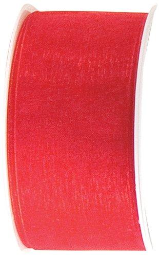 The Gift Wrap Company Organdy Schleifenband, 3,8 cm rubinrot