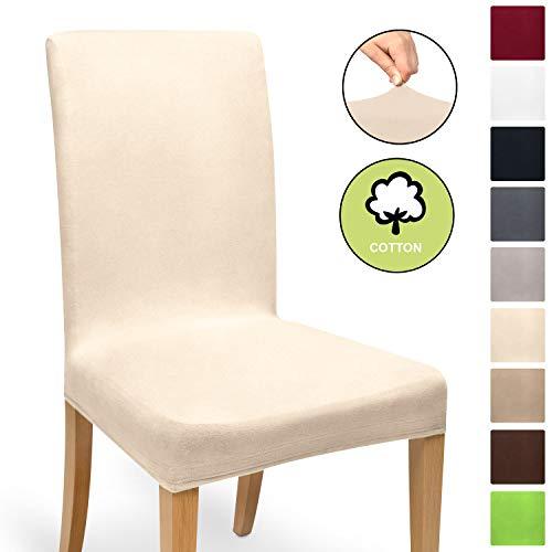 Beautissu Funda de sillas MIA - 35x50 cm Funda elástica de algodón...