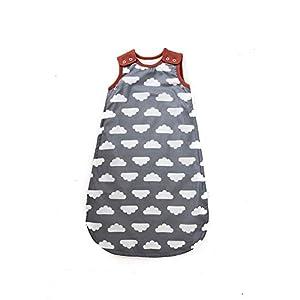 Mama Designs Babasac Multi Tog – Saco de dormir para bebé, en nube gris con borde de Russet. Multi tog 1.0 y 2.5 tog incluido (tamaños 0 – 6 meses, 6 – 18 meses y 18 – 36 meses) Talla:0-6 meses